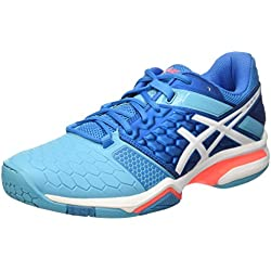 Asics Gel-Blast 7 W, Zapatillas de Balonmano Para Mujer, Blu (Blue Jewel/White/Flash Coral), 40 EU