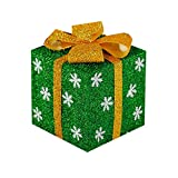 SLIANG Weihnachtsgeschenkboxaußenweihnachtsbaumdekorationkasten-Geschenktasche PVC-Geschenkdekoration (Farbe : Green, größe : XS)