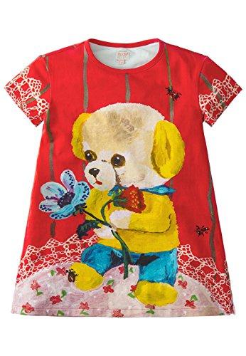 Room Seven Mädchen Baumwolle Jerseykleid Strickkleid Tatoua Entwurf Natalie Lété S17GJE003