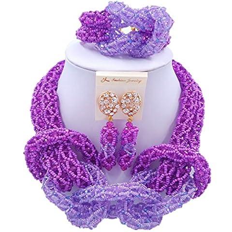 laanc Femme populaire Cristal de 2mm Perles de verre du