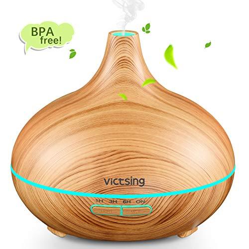 VicTsing Aroma Diffuser,300ml Luftbefeuchter Ultraschall Vernebler Raumbefeuchter Elektrisch Duftlampe Öle Diffusor mit 7 Farben LED,mehr als 30ml/h Feuchtigkeitsabgabe für Raum,Büro,Yoga,Spa,usw