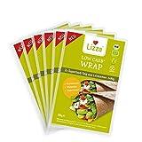 Lizza Low Carb Wrap aus Leinsamen und Chiasamen. Kalorienarm. Bio. Glutenfrei. Vegan. Gesund (12 Stück x 90g)