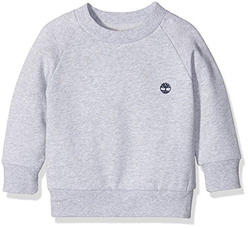 Timberland T25L14 Sweatshirt, Felpa Bambino, Grey (Chine Grey), 8 Anni