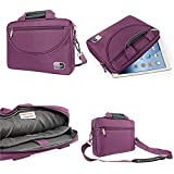 DMG Brinch Crossbody Messenger Bag Carrying Case With Accessory Pockets For 10 Inch Tablets And Apple IPad (Purple)