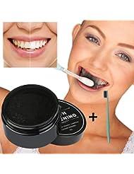 IGEMY Poudre De Blanchiment Des Dents Organiques Naturelles Activé Dentifrice Au Charbon De Bamboupoudre de blanchiment des dents au charbon actif
