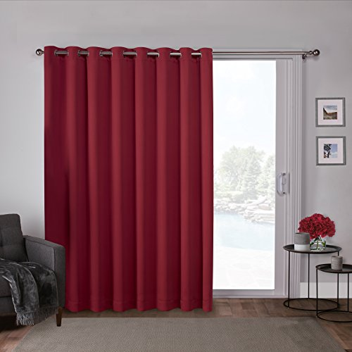 Exclusive Home Curtains Spitze Tülle Fenster Vorhang-Paar, Polyester, Chili, 100x84 -