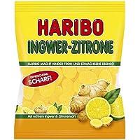 Haribo Gingembre-Citron, Bonbons, Bonbons Gélifiés, Bonbons Fruités, en Sachet, Paquet, 175 g
