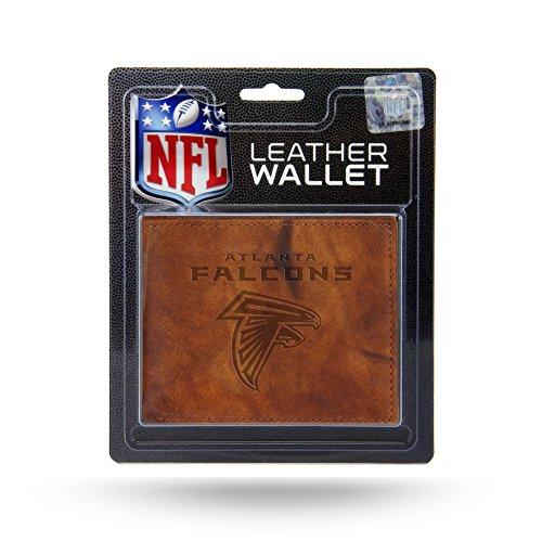 Rico Industries NFL Arizona Cardinals Geldbörse aus geprägtem Leder, Embossed Leather Billfold Wallet with Man Made Interior, braun, 3.5