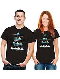 T-Shirt Von oben beschissen Funshirt schwarz bunt