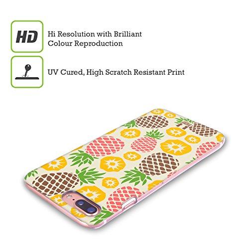 Head Case Designs Cacao E Ananas Pattern Ananas Cover Retro Rigida per Apple iPhone X Medley Di Ananas