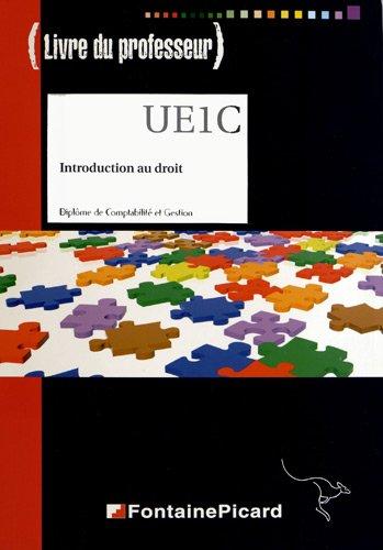 Introduction au droit DCG : Livre du professeur