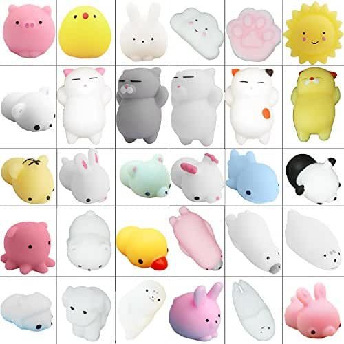 mini kawaii miniaturas kawaii ZhengYue 30 PCS Squishy Animales Kawaii Squishy Mini Animal Juguetes para Estrés Relevista Regalo Decoración