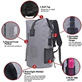 30L Roll Top Rucksack Backpack Packsäcke Dry Bag Sack Wasserdicht Regenschutz (Grau) Test
