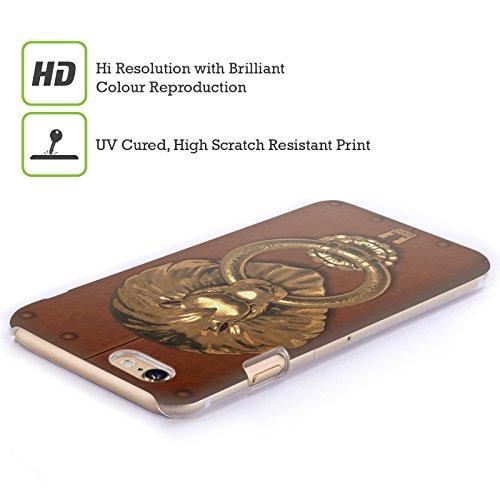Head Case Designs Fiori E Foglie Doodle Gufi Cover Retro Rigida per Apple iPhone 7 Plus / 8 Plus Leone