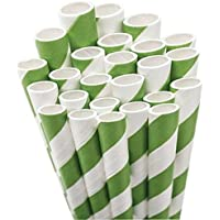 Aardvark Paper Straws Unwrapped Jumbo, 20 cm, per bambini, 50 kg, colore: verde/bianco a righe