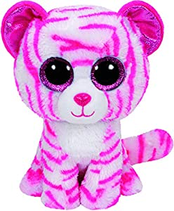 TY - Beanie Boos Asia, tigre, 23 cm, color blanco / rosa (United Labels Ibérica 36823TY)