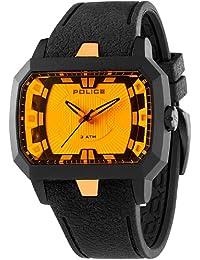 Police PL.13838JPB-04 - Reloj analógico de cuarzo para hombre, correa de silicona color negro