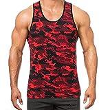 Camisetas De Tirantes para Hombre Moda Camuflaje Entrenamiento Fitness Correr Running Gym Cómodo Respirable Chaleco de Verano Tops Camisa sin Mangas MMUJERY