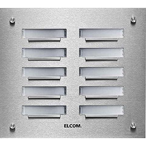Elcom Up de placa de timbre 6taster, de 2filas, ED KVM de 6/2