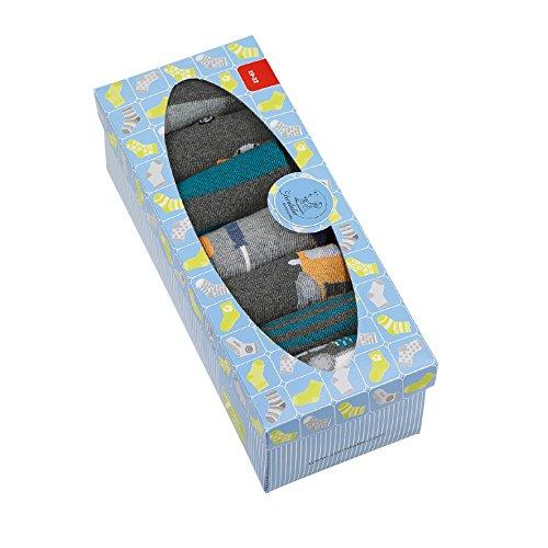 Sterntaler Baby-Jungen 8421851-Söckchen 7er-Box Socken, Grau (Anthrazit Mel 592), 17-18