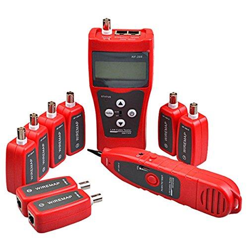 Preisvergleich Produktbild NF-388Mehrzweck Netzwerk-Kabel-Tester, mit 8Far-End Steckern für Ethernet-LAN, Telefon, USB, Koaxial