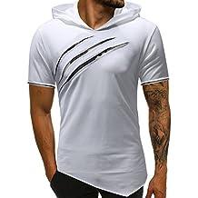 ZODOF Camisetas Hombre Verano,Ropa Deportivas Hombre,Sudaderas con Capucha Casual Hombre,Camiseta