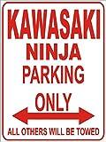 INDIGOS - Parkplatz - Weiß-Rot - 32x24 cm - Alu Dibond - Parking Only - Parkplatzschild