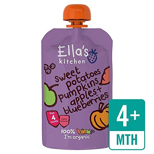 Ellas Küche Bio-Süßkartoffeln, Kürbis, Apfel & Heidelbeeren Stufe 1 120g