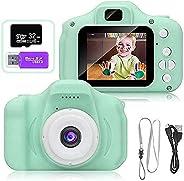 لعبة الكاميرا الرقمية بدقة 1080 بكسل للاطفال من اميرتير، مع [بطاقة ذاكرة 32 جيجا وقارئ البطاقة]، كاميرا فيديو