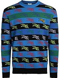 7882ef07 Kenzo Mens All Over Tiger Print Jumper Blue