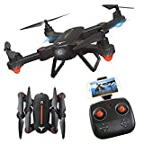 ESGOT F16 Foldable RC Drone with HD WiFi Camera and LED Lights Two Rechargeable Batteries