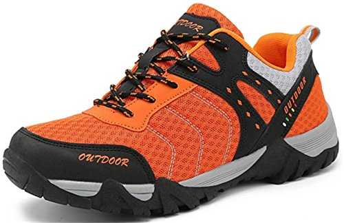 DADAWEN Mixte adulte Chaussures de Multisports outdoo/Sneakers Basses mixte adulte Orange