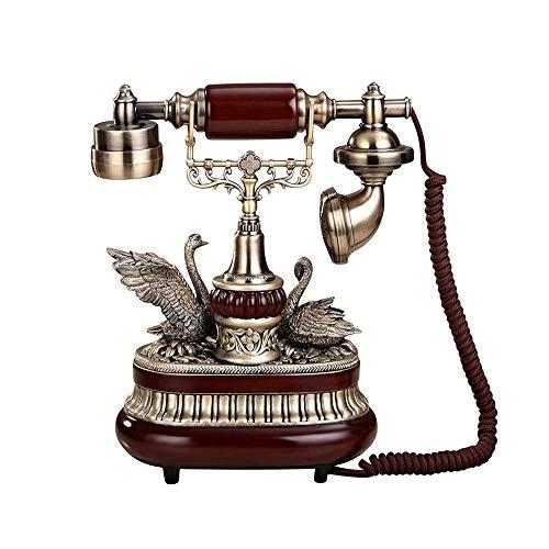 Retro altes Telefon-Wählscheibe-Telefon Retro altmodische Festnetztelefone mit klassischem Metallklingel-Telefon mit Lautsprecher und Wahlwiederholung für Heim und Dekor