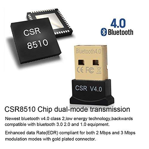 sancus global USB 2.0 Ultra-Mini Bluetooth CSR 4.0 Dongle Adapter for PC Computer Laptop Supports Windows 10 8.1 8 7 Vista XP