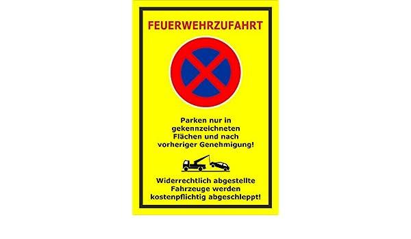 Bohrl/öcher S00350-025-C 20 VAR 15x10cm Feuerwehrzufahrt Melis Folienwerkstatt Schild 3mm Aluverbund