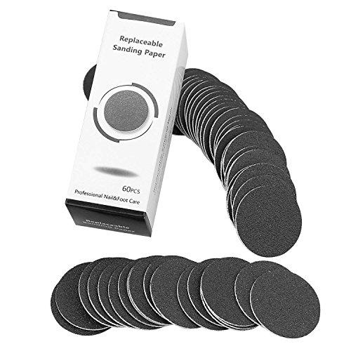 TOOGOO 60 Stueck Ersatz Sandpapierscheiben Pads Fuer elektrische Fussfeile Kallus-Entferner Pedikuere-Werkzeug