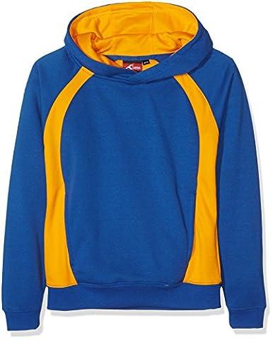 Akoa Sector Hoody 9/10, Sweat-Shirt à Capuche Garçon, Blue (Royal/Amber), 9-10 Ans