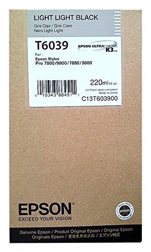 Epson T6039 Cartouche d'encre d'origine 1 x noir clair