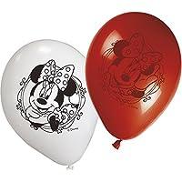 Procos - 8 Palloncini In Lattice 28 Cm Per Feste Minnie Walt Disney - Festa Di Compleanno Decorazione Idee