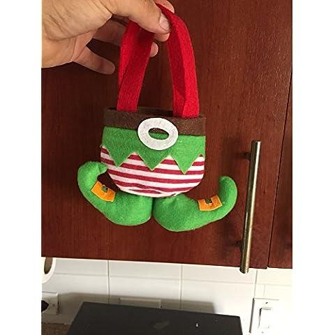 Sacchetto regalo di caramelle di elfo natale ornamento