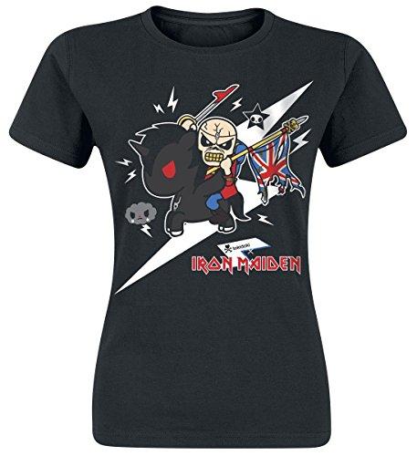 Iron Maiden Tokidoki Trooper Camiseta Mujer Negro S