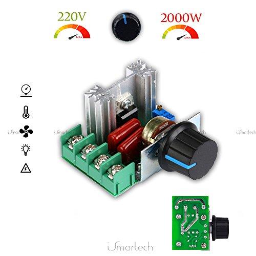 Ismartech Regulador de potencia motor regulador Velocita 'Ventilador tensión eléctrica 200V 2000W...