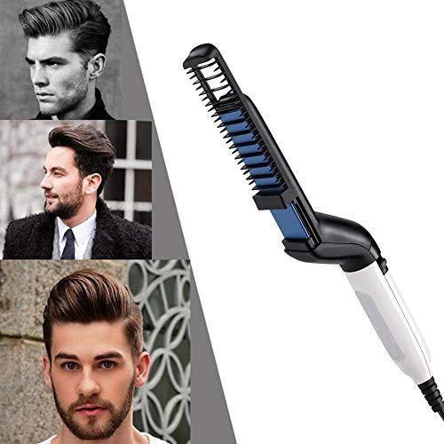Pettine raddrizzatore barba, bigodino di capelli multifunzionale maschile raddrizzamento pettine, barba elettrica raddrizzatore pettine strumento per capelli per gli uomini