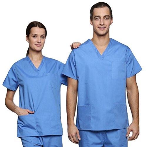 Lister Unisex Krankenhaus-Bekleidung / Arzt-Uniform, verschiedene Farben, Größen XS bis 3XL Gr. XXXL, Blau - Hospital (Uniform Ärzte)