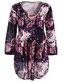 Marisota Black & Pink Floral Print Tunic Top Blouse Plus Size 14 to 32 RRP £39 (16)