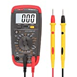DMiotech Digitalmultimeter Multi Tester Kapazität Test-AC / DC-Spannung Strom Widerstand Continuity Diode Transistor hFE Meter LCD-Hintergrundbeleuchtung Display-Smart-C-