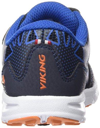 Viking Doenna Velcro, Baskets Basses mixte enfant Bleu - Blau (Navy/Royal Blue 515)