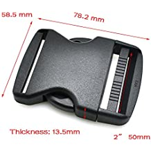 """1pcs 2""""(50mm) con hebilla de plástico para equipaje mochila táctica correas"""
