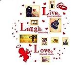 PHOTOZXM GRJH® Foto Wand, Persönlichkeit Kreative Wohnzimmer Wände Wandbehang Bilderrahmen Schmuck Kreativer Europäer (Farbe : #2)
