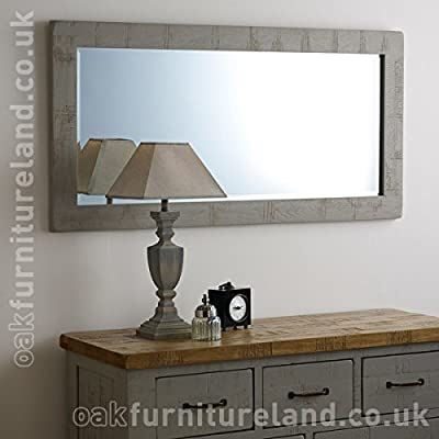 Clermont Painted Rough Sawn Oak 1200mm x 600mm Wall Mirror - low-cost UK light shop.